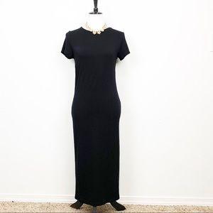 ASOS Black Bodycon Midi Dress Size 8